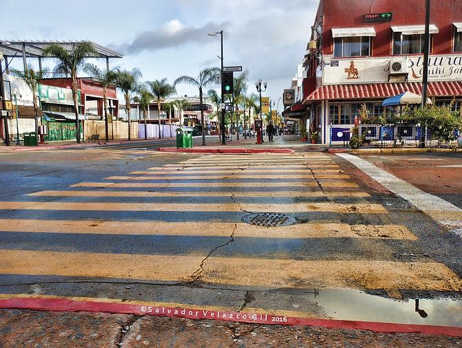 Neighborhood Photos TIJUANA,BAJA CALIFORNIA,MEXICO Reflection on Revolucion Avenue in Tijuana/Reflejos en Avenida Revolucion en Tijuana.