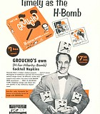 """How about a set of 1955 Groucho's own """"That's Me!"""" (H-for-Hilarity-Bomb) Cocktail Napkins? Groucho wasn't ..."""