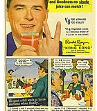 """""""Hey, bartender! Gimme four bloody Mary's!"""" Ronald Reagan for V8 Vegetable Juice, 1952."""