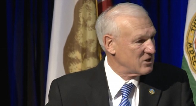 Ron Roberts speaks his part at the February 25 state of the county address