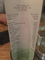 $150 Burger and fish dinner.  And I could have had a hot dog and coke at Costco for $1.50