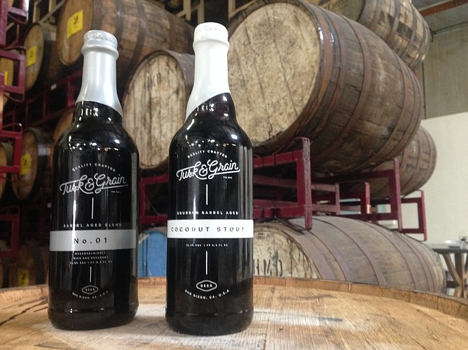 Saint Archer has started releasing barrel-aged beers under the Tusk & Grain label.