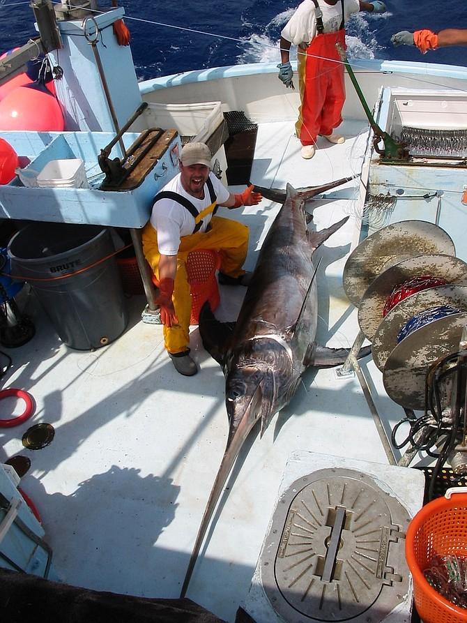 At least $2000 worth of swordfish