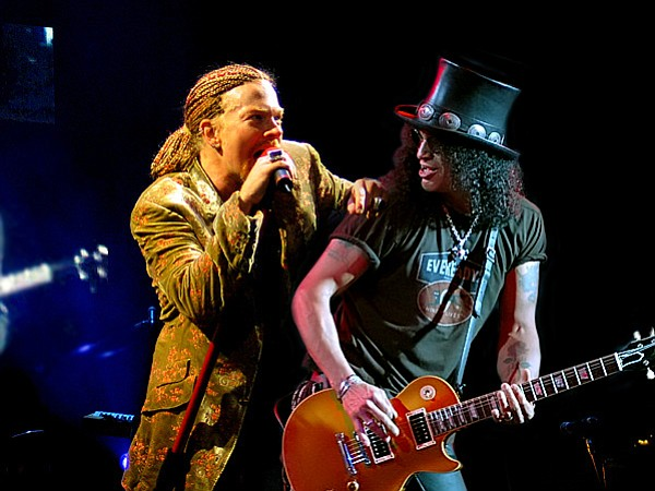 Axl and Slash together again — Guns 'N Roses reunite for Coachella and bring the tour through town in August!