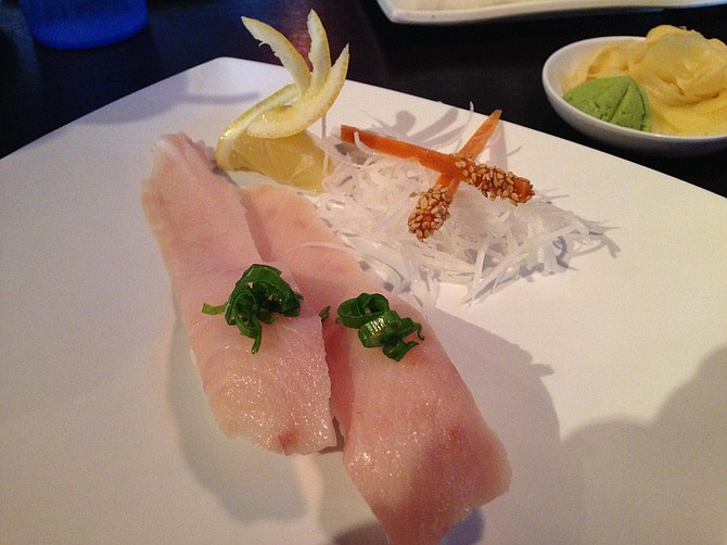 Hamachi belly usually costs a little more because its better quality. Here it's affordably satisfying, but not mindblowing.