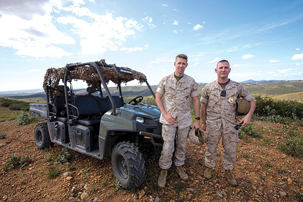 Lt. Matthew Gregory and Capt. Chris Robinson