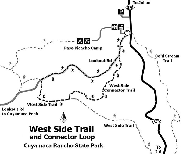 West Side Trail and Connector Loop — Cuyamaca Rancho State Park