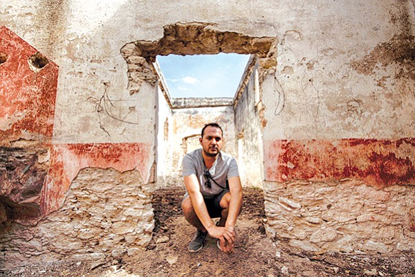 Miguel Buenrostro at Mineral de Pozos in Guanajuato, which has been known as a ghost town.