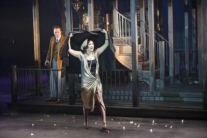 "Most of what happens off stage in Maugham's ""Rain,"" happens onstage in the musical."
