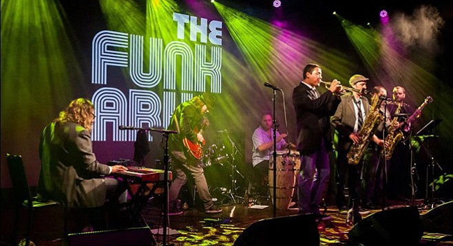 The Funk Ark has a big percussion sound with horns in all the right places.