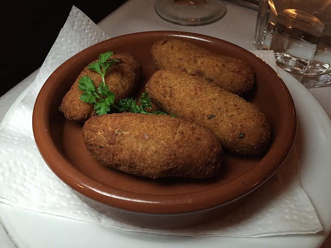 Not much to look at, but these chicken croquettes were plenty flavorful
