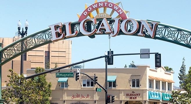 El Cajon neighborhood sign