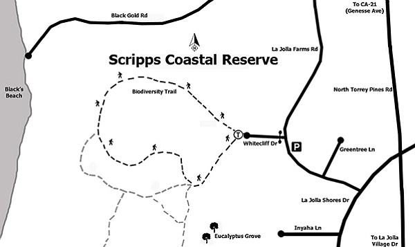Scripps Coastal Reserve trail map