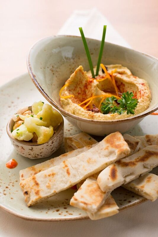 """They inhaled the hummus so fast they didn't get a picture, but this one from Madison's website is """"exactly how ours looked."""""""