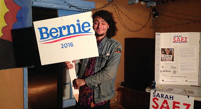 """Rocker/Sanders supporter Jakob McWhinney says that among his age group, """"there is a crazy outreach for Sanders."""""""