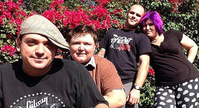 Blues-rock band Fighting Able will drop their Expected record at Shooters in Spring Valley on April 30.
