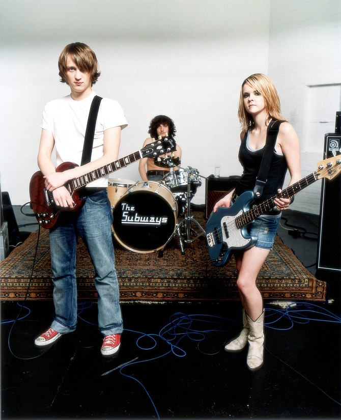 English power trio the Subways roll into Casbah on Monday.