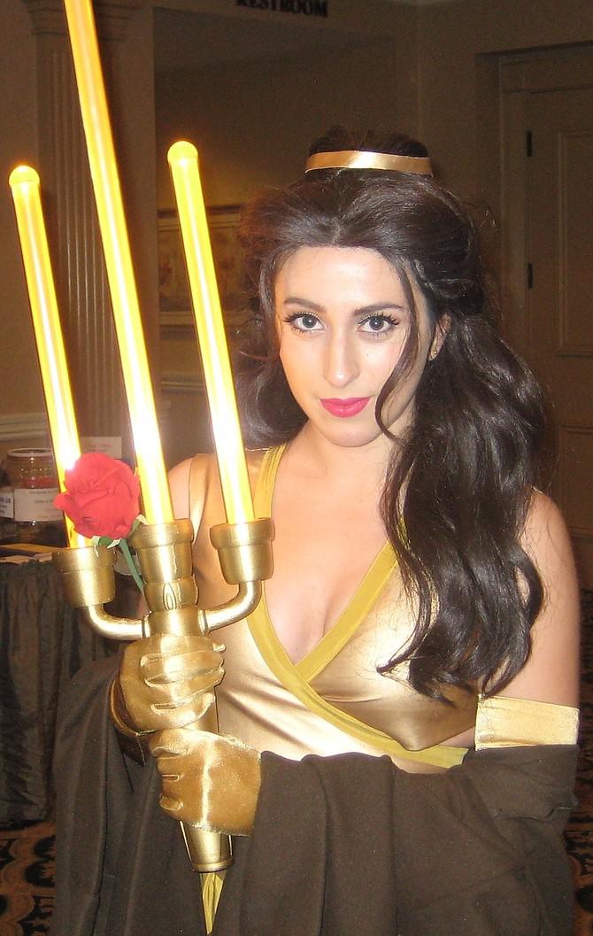 Elizabeth Rage as Jedi Belle https://www.facebook.com/elizabethragepage