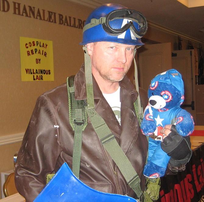 Marvel Comics' Captain America and teddy bear