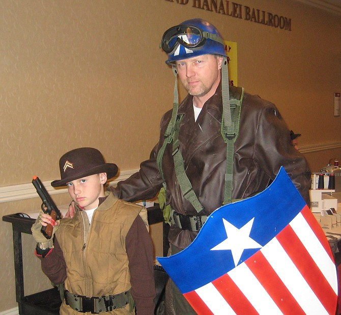 Marvel Comics' characters Dugan and Captain America