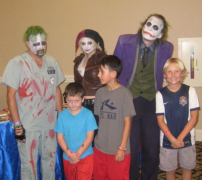 DC Comics' characters Joker and Harley Quinn