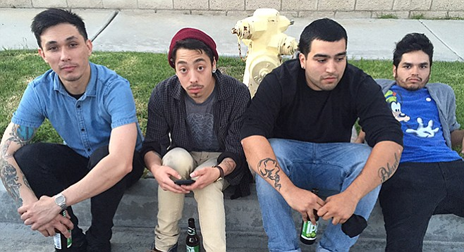 Surf-punk four-piece Los Shadows left hip-hop behind when they discovered riffs from Nirvana. They play Soma on Saturday.