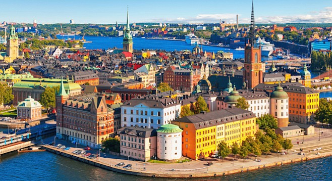 Stockholm. Sweden is now home to about 300 American war resisters — down from a peak of 800 in 1970-71.