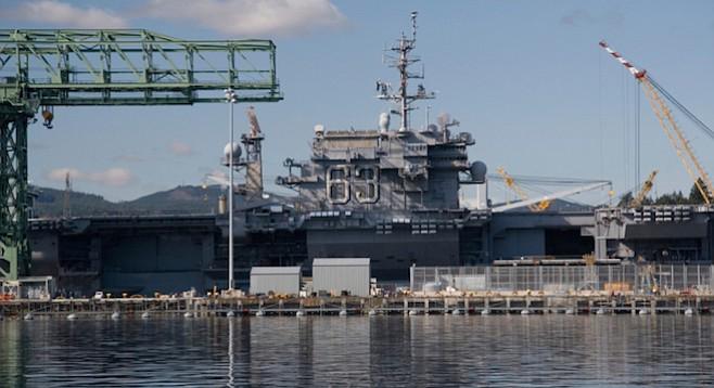 U.S.S Kitty Hawk aircraft carrier 63