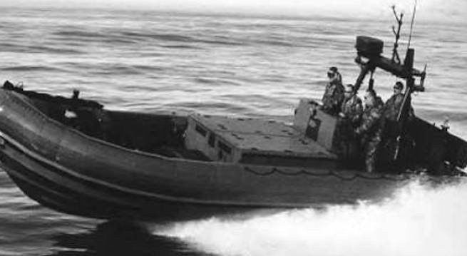 """Also had two RIBs — 24-foot rigid inflatable boats powered by a Volvo inboard/outboard that could make 28 knots."""