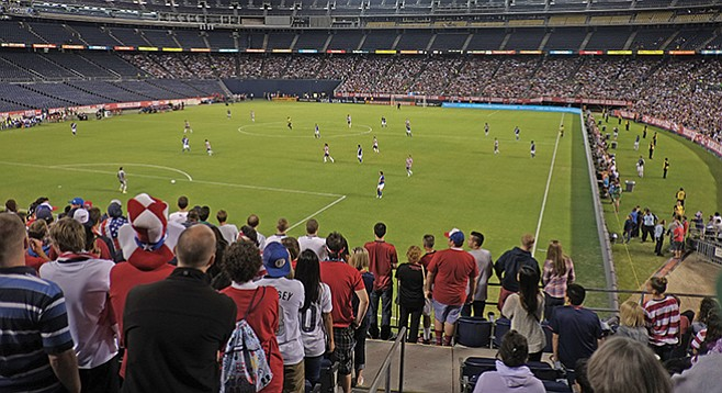 USA vs. Guatemala on July 5, 2013, was one of many soccer/fútbol games that Qualcomm Stadium has hosted