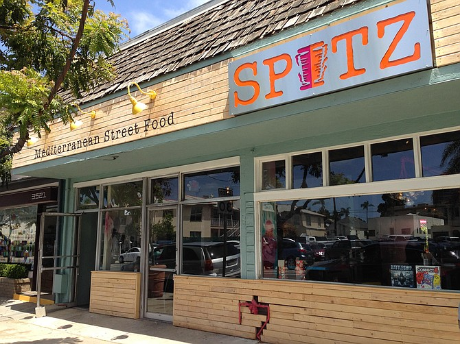 Spitz gives Mediterranean Street Food a German name.