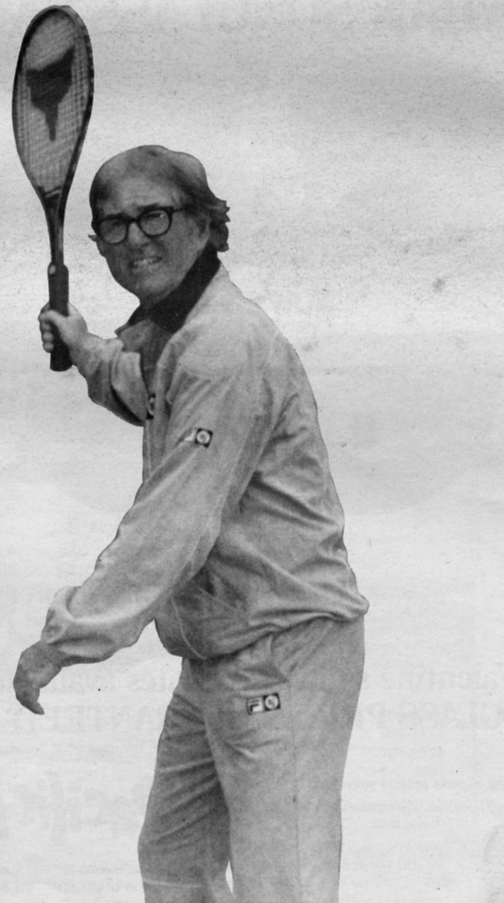 """Bobby Riggs.  """"And you pulled it out?"""" Bobby shouted. Larry nodded, trying to hide the obvious pleasure he took in bringing this small victory to his father."""