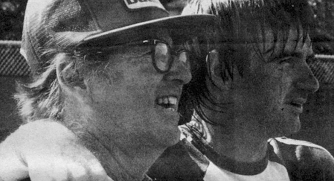 Bobby Riggs and Jimmy Connors. Riggs may be nearly deaf, but he was always a better talker than a listener anyway.