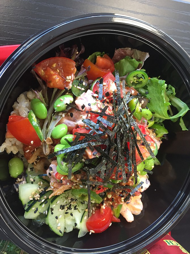 San Diego Poke Company has specialty bowls, or you can just build your own.