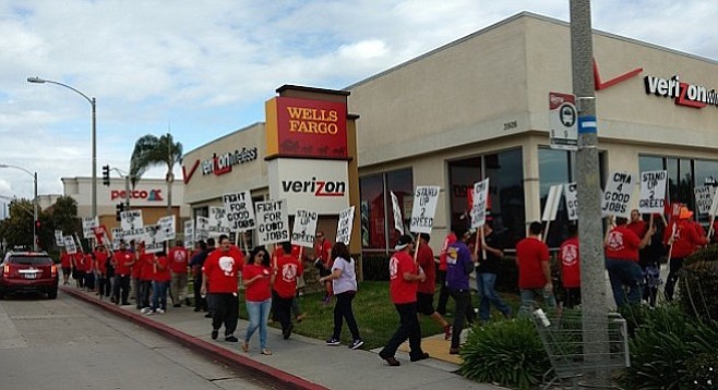 """Verizon is one of the most profitable companies in the country; they can afford to pay good wages."""