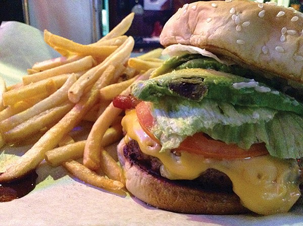 Super Cabo Wabo burger: Eight dollars, but bacon's thick and the avo lubricates everything