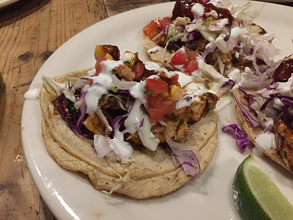 Cantina Mayahuel's chicken street tacos