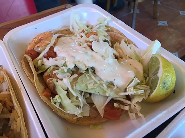 Colima's Baja shrimp taco