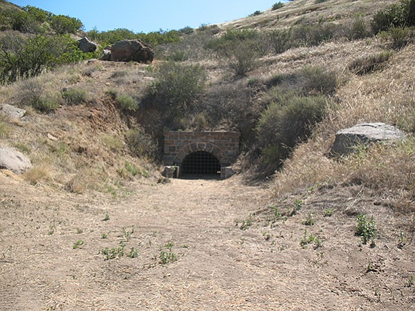 El Monte Flume Tunnel installed by SD Flume Co. in late 1800s