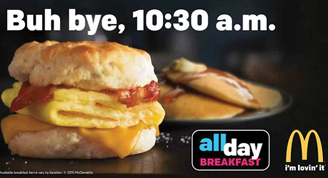 All-day breakfast at McDonald's started in October 2015