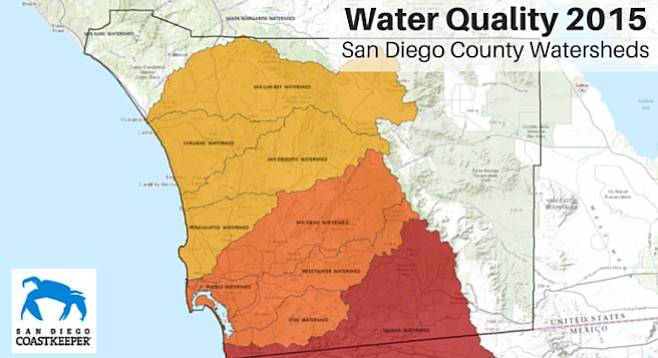 San Diego Watershed Survey Yields Fairpoor Results San Diego Reader - Watershed map of us