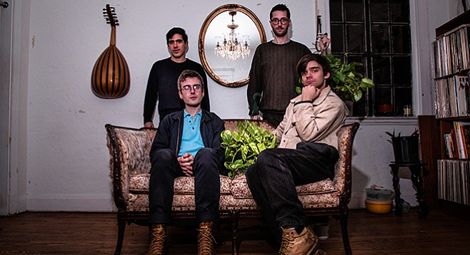 Loopy Baltimore band Horse Lords ride into TJ's Hostal Pangea Sunday night.