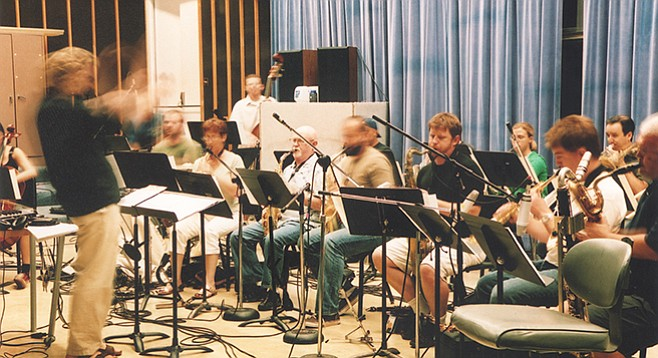 """""""Writing for a large ensemble in San Diego is just ridiculous,"""" says drummer/composer Nathan Hubbard. - Image by Karen Hubbard"""