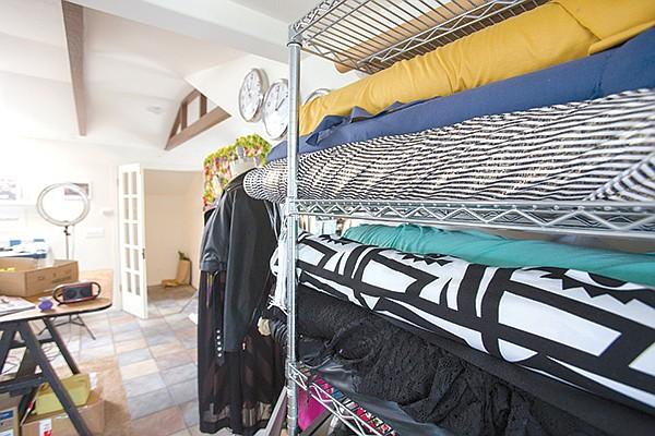 Fabric in Tipton's studio