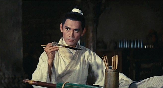 Chun Shih dines on flying dagger, the catch of the day in King Hu's wuxia classic.