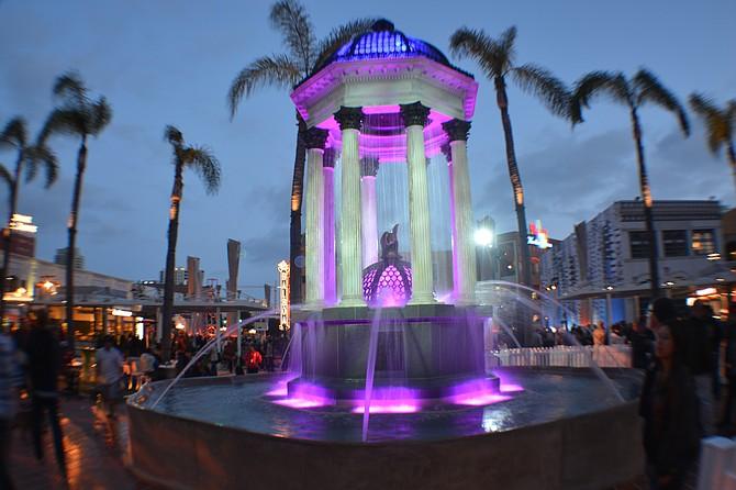 New Horton Plaza fountain.