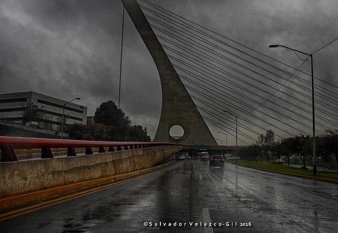 Travel Photos MEXICO Monterrey,Nuevo Leon,Mexico. Bridge in Monterrey,Mexico / Puente en Monterrey,Mexico.