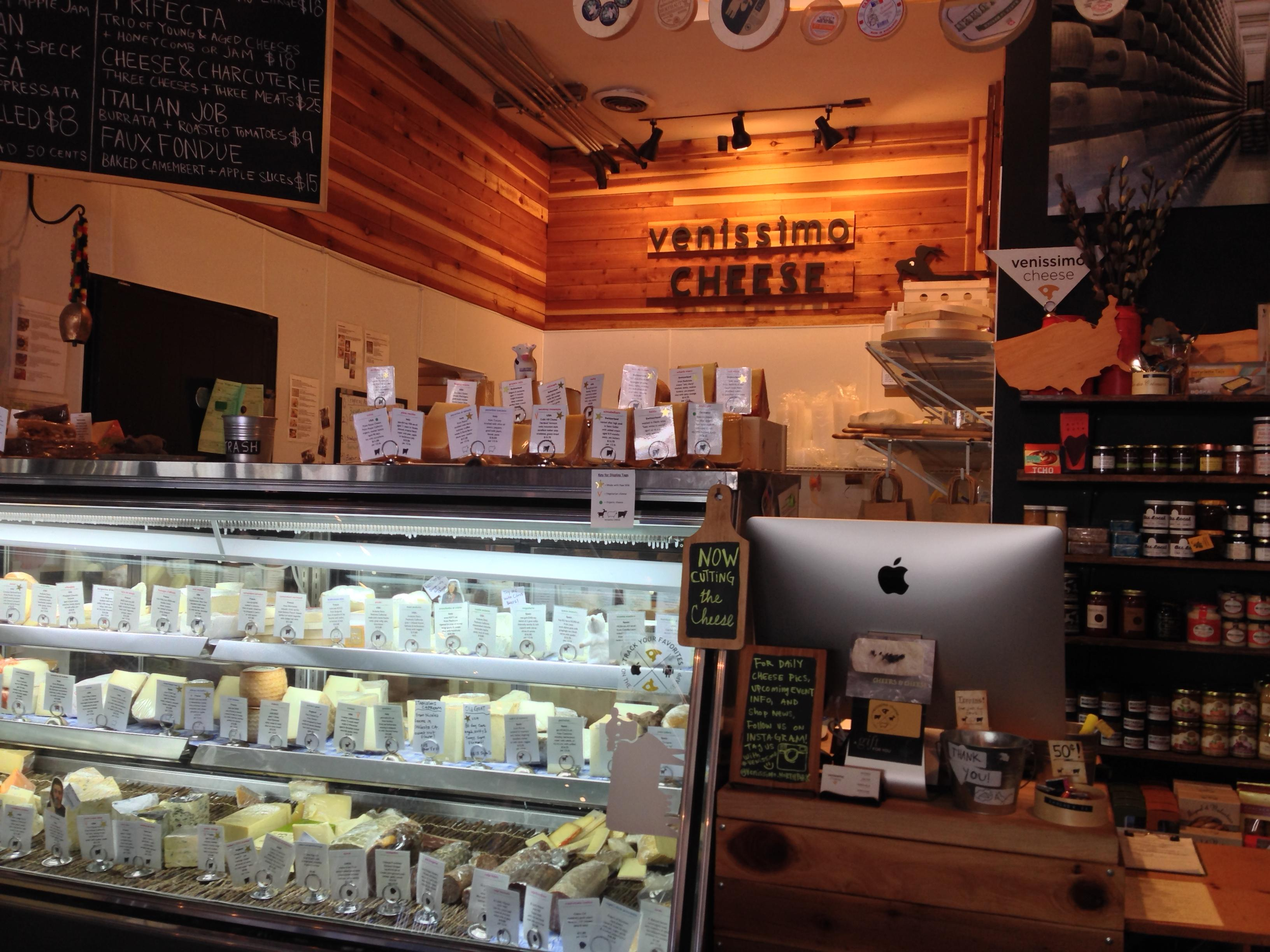 If you can look past the beer, you'll spot a Venissimo Cheese counter in the back of Bottlecraft North Park.