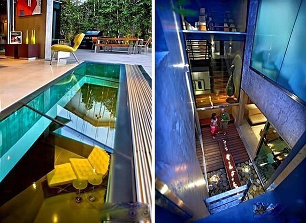 Glass floor firepits