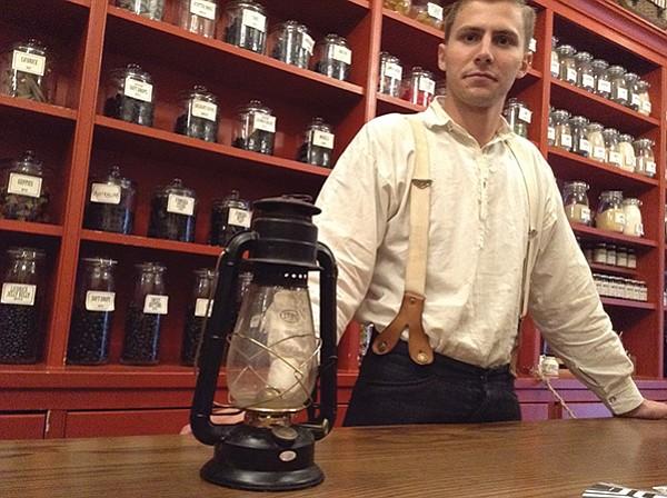 Mr. Abraham with $21 storm lantern